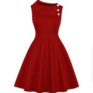 Dresses & Skirts - Pinup fit and flare red dress